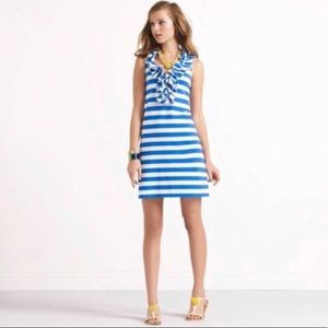 Kate Spade Blue White Lucille Striped sheath dress